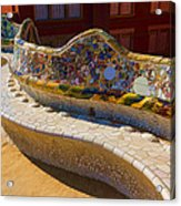 Gaudi's Park Guell Sinuous Curves - Impressions Of Barcelona Acrylic Print