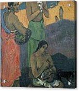 Gauguin, Paul 1848-1903. Three Women Acrylic Print by Everett