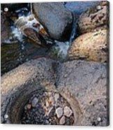 Gauthier Creek Point Of Interest Acrylic Print by Sandra Updyke