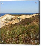 Gay Head Lighthouse With Aquinnah Beach Cliffs Acrylic Print