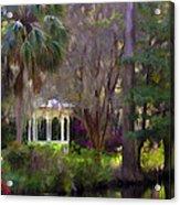 Gazebo At Magnolia Gardens Acrylic Print