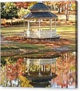 Gazebo In The Park Acrylic Print
