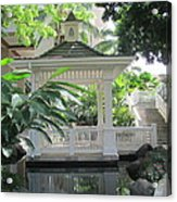 Gazebo Of The Tropics Acrylic Print