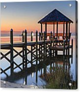 Gently - Gazebo On The Sound Outer Banks North Carolina Acrylic Print