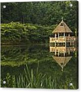 Gazebo Reflections Acrylic Print