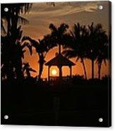 Gazebo Silhouette Acrylic Print