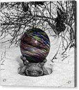 Gazing Ball Squared Acrylic Print