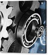 Gears And Cogwheels Reflection Acrylic Print