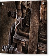 Gears And Pulley Acrylic Print