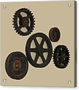 Gears And Pulleys Acrylic Print