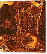 Gears In Yellow Acrylic Print