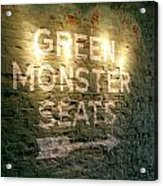 Geen Monster Seats Sign Acrylic Print