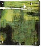 Geese On Pond Acrylic Print