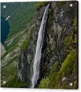 Geirangerfjord Waterfall Acrylic Print
