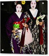 Geisha 2 Acrylic Print by David Kacey