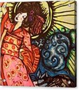 Geisha Dance Acrylic Print