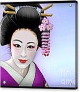 Geisha Girl Acrylic Print