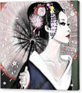 Geisha No.151 Acrylic Print by Yoshiyuki Uchida