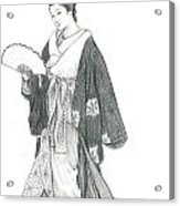 Geisha Vi Acrylic Print