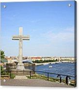 Gellert Hill Cross In Budapest Acrylic Print