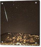Geminid Meteor Shower Aspen Acrylic Print by Tom Cuccio