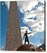 Gen. John Stark At The Bennington Battle Monument Acrylic Print