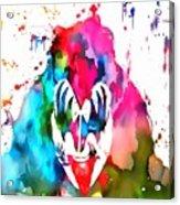 Gene Simmons Paint Splatter Acrylic Print