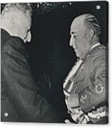 General Franco Decorated. Receives Garsnd Of The Omeyas - Acrylic Print