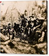 General George R. Crook Negotiating With Geronimo  1886-2008 Acrylic Print