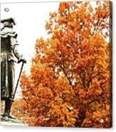 General In Fall Splendor Acrylic Print