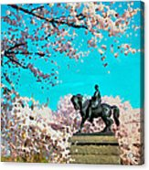 General In The Blossoms Acrylic Print