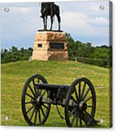 General Meade Monument And Cannon Acrylic Print by James Brunker