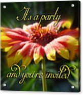 General Party Invitation - Blanket Flower Wildflower Acrylic Print by Mother Nature