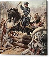 General Sheridan At The Battle Of Five Acrylic Print