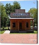 General Store At Historical Park Acrylic Print