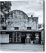 General Store In Independence Texas Bw Acrylic Print