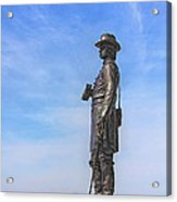 General Warren Statue At Gettysburg Acrylic Print by Randy Steele