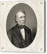 General Zachary Taylor, From The History Of The United States, Vol. II, By Charles Mackay, Engraved Acrylic Print