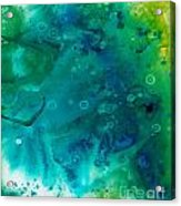 Genesis In Turquoise Acrylic Print