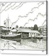 Genius Ready To Fish Gig Harbor Acrylic Print by Jack Pumphrey