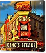 Geno's Acrylic Print