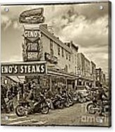 Geno's With Cycles Acrylic Print