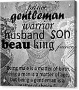 Gentleman 4 Acrylic Print