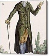 Gentleman In Green Coat, Plate Acrylic Print