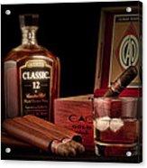 Gentlemen's Club Still Life Acrylic Print by Tom Mc Nemar