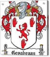Geoghegan Coat Of Arms Westmeath Ireland Acrylic Print