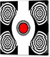 Geometric Abstract Black White Red Art No.400 Acrylic Print