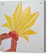 Geometric Blooming Lotus Acrylic Print