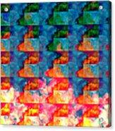 Geometric Cloud Cover Acrylic Print