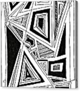 Geometric Doodle 2 Acrylic Print by Sarah Loft